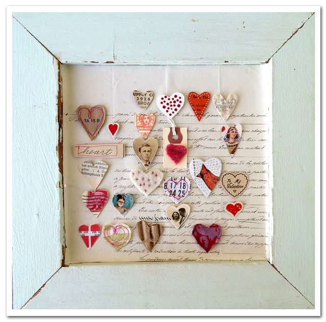Heart art by Rebecca Sower, via Flickr