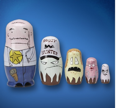 I really want these Squidbillies nesting dolls!