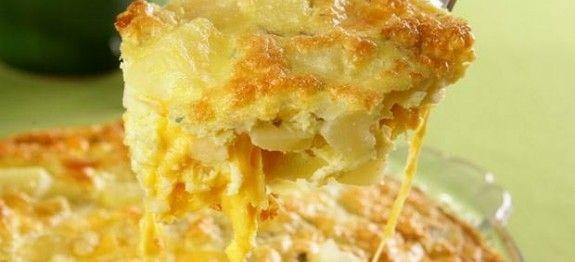 Fritada de forno de batata e queijo - Veja a Receita: