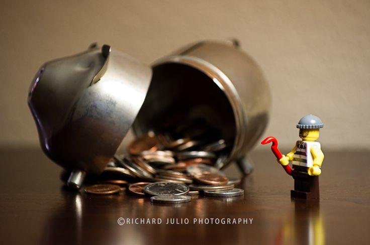 The Heist - Lego macro photography series by Richard Julio Photography