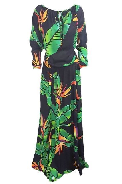 Tui Dress - SHOP ONLINE-Womens : Resort Clothing Auckland, Resort Wear New Zealand, Samoan Dresses, Tropical Print, Bird of Paradise