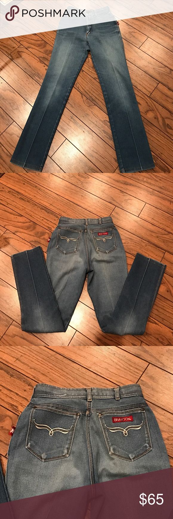 Vintage Braxton Stretch Jeans!!! These are amazing vintage high waisted Braxton Stretch Jeans. Size 10 Braxton Jeans Boot Cut