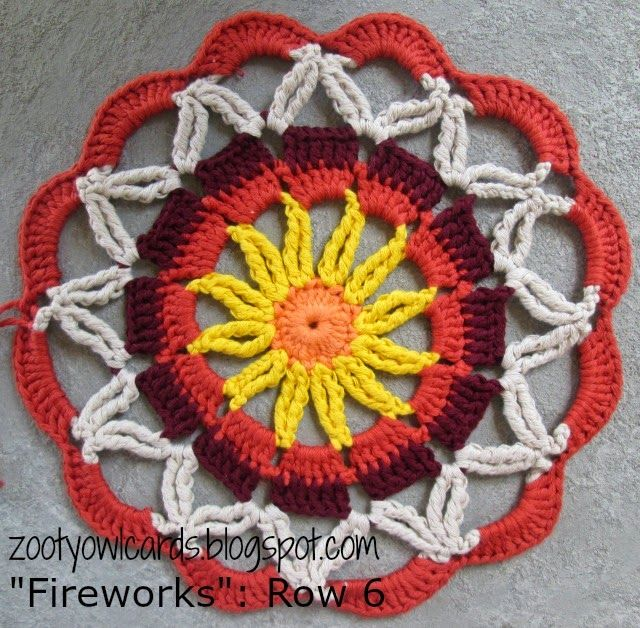 Fireworks Doily / Mandala