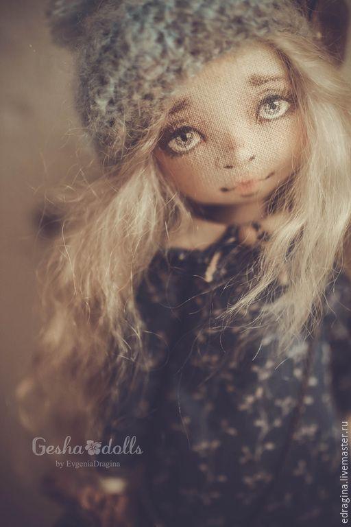 Купить Ассоль - темно-синий, коричневый, бежевый, китенок, кит, море, нежность, текстильная кукла