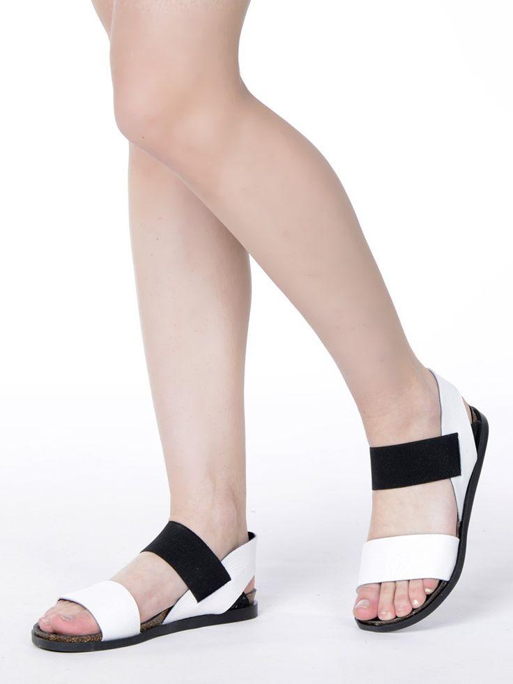 Комфортные черно-белые сандалии в мужском стиле LILIMILL