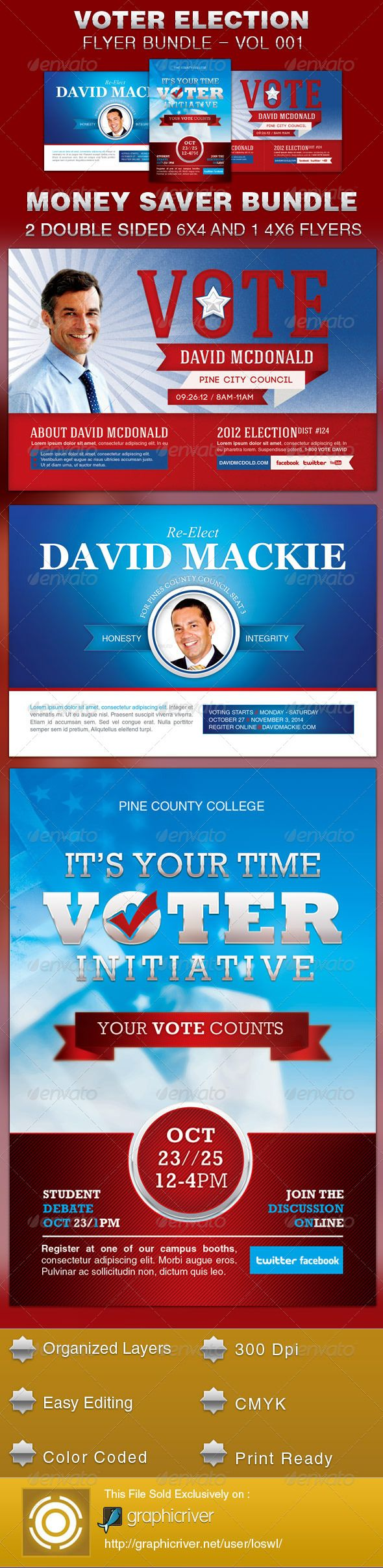 40 best images about campaign ideas on pinterest clinton for Voting flyer templates free