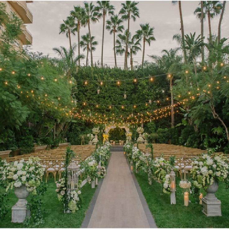 wedding receptions in downtown los angeles%0A Wedding Inspiration  Strands of sparkling lights will instantly transform  an outdoor venue into a magical