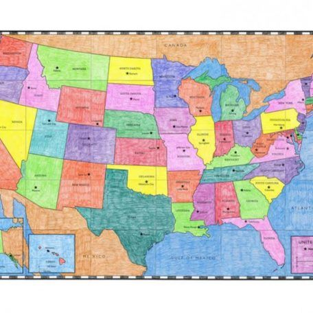 Best Usa Maps Ideas On Pinterest United States Map Map Of - Map of the us states and their capitals