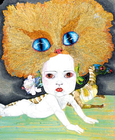 A is for …[beauty before beauty]  by Del Kathryn Barton.
