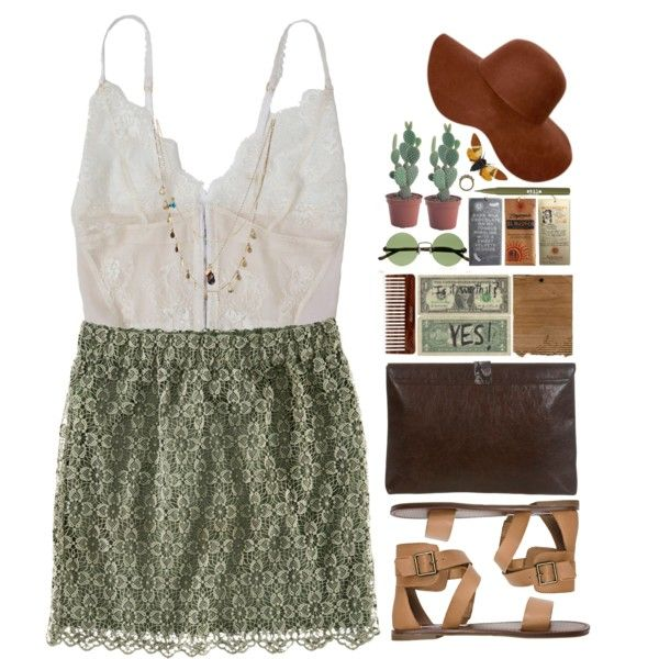 Untitled #1369 by tacoxcat on Polyvore featuring H&M, Steve Madden, Miss Selfridge, Orelia, Forever 21, The Row and Stila