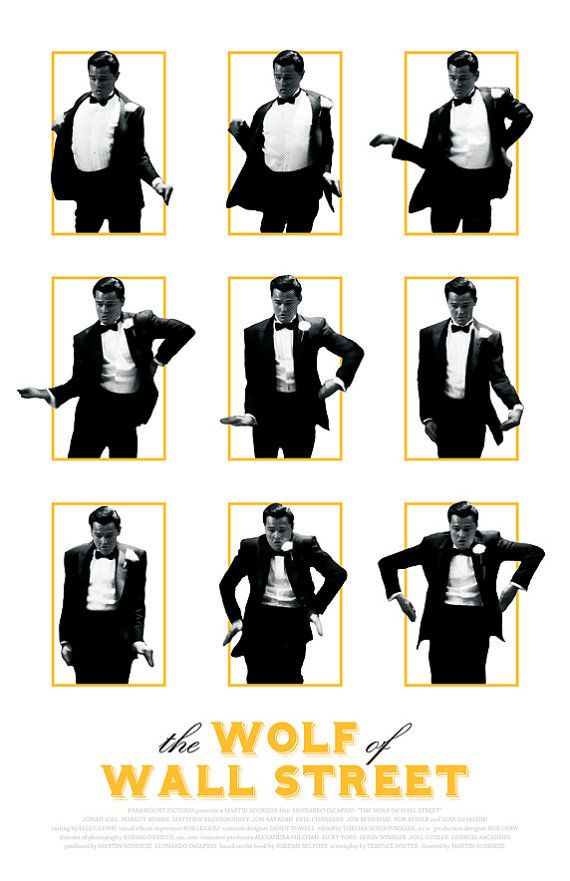 Wolf Of Wall Street Film Poster on Etsy, $15.00