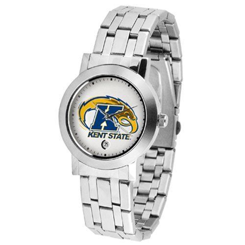 """Kent Golden Flashers NCAA """"Dynasty"""" Mens Watch by SunTime. $80.55. Date Display. Stainless Steel Case. Scratch Resist Face. Elegant design for the modern man or woman who wants to show their team spirit! The dial is presented in a sleek, stainless steel case and bracelet that rests fashionably yet comfortably across the wrist. Features a convenient date display, quartz accurate movement and a scratch resistant mineral crystal face.. Save 10% Off!"""