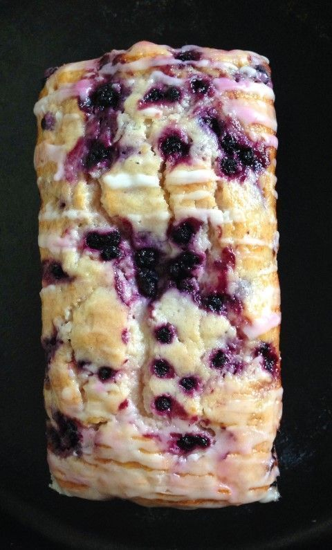 Lemon Blueberry Bread ~ A soft moist bread studded with blueberries and brightened with lemon drizzled with a sweet lemon glaze