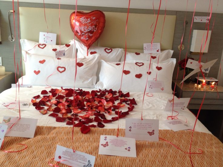romantic valentine at home