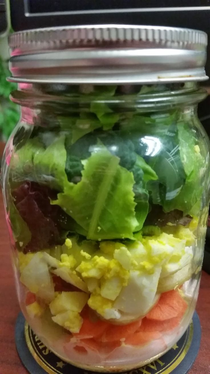 From Mess Hall to Bistro-Salad in a jar #unprocessed