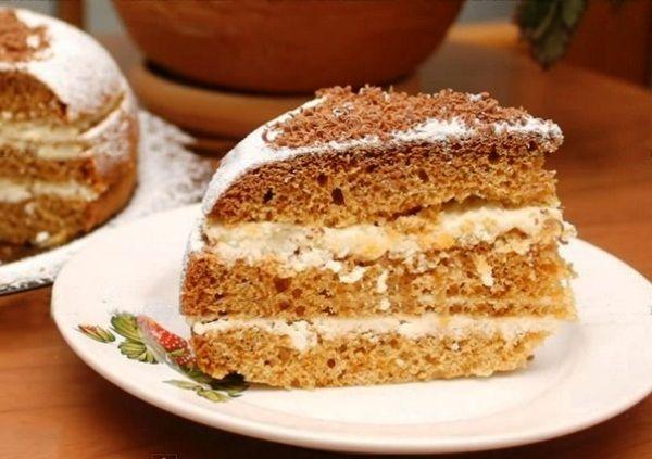 Медовый бисквитный торт в мультиварке
