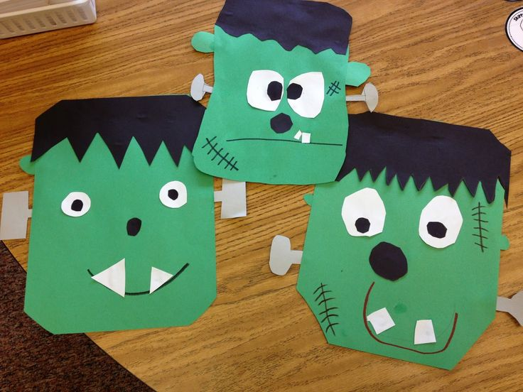 frankenstein craft halloween activitieshalloween - Preschool Halloween Art Projects