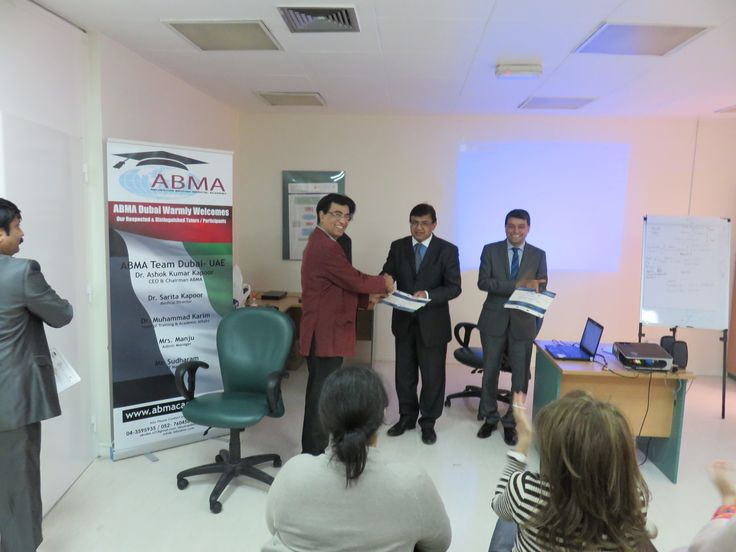 ABMA MRCOG Part II - Appreciation Certificate to Dr. Saleem Khan given by Dr. Ashok Kapoor, CEO & Medical Director, ABMA - UAE.