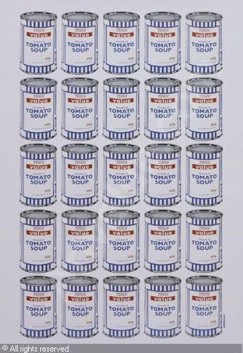 Banksy | Tesco Value Cream of Tomato Soup, 2007.