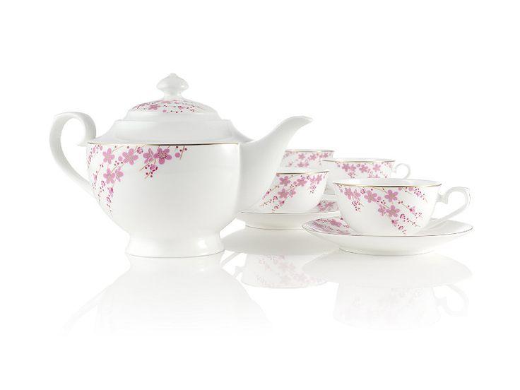 Sakura petals bone china tea set at teavana teavana so pretty for the home pinterest - Teavana teapot set ...