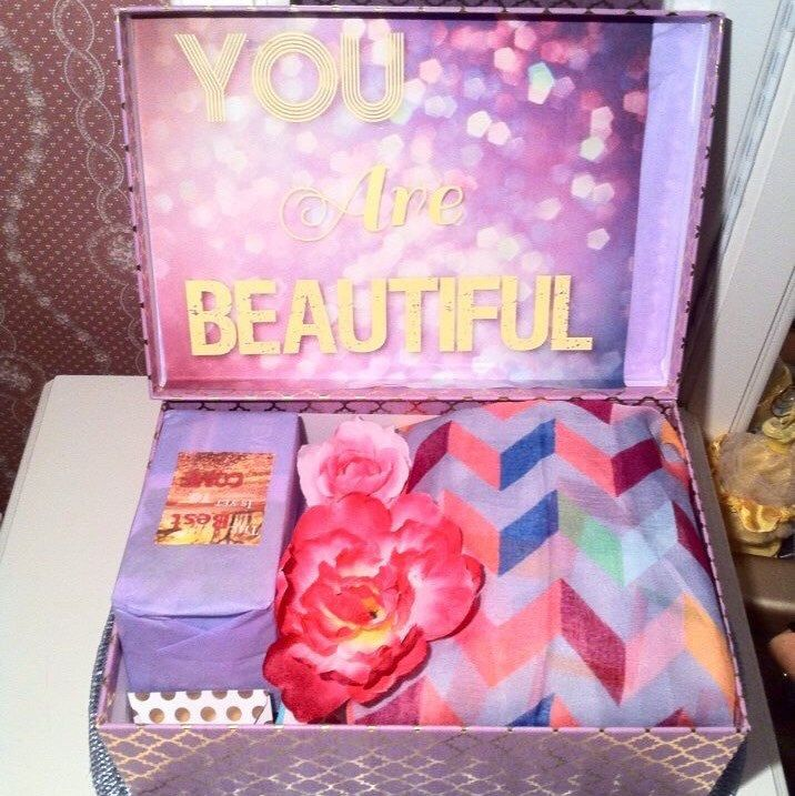 Just finished this #youarebeautifulbox in #purple 💜 send her a #carepackage for any occasion