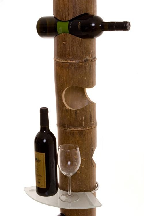 Porta vinho de Bambu