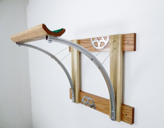 Bicycle Rack Bicycle Accessories Reclaimed by Winterwomandesigns - For more great pics, follow www.bikeengines.com