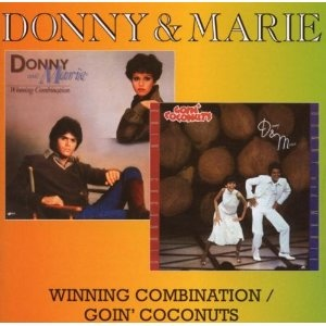 Donny & Marie Osmond - Winning Combination/Goin' Coconuts Dust Jackets,  Dust Covers,  Dust Wrappers