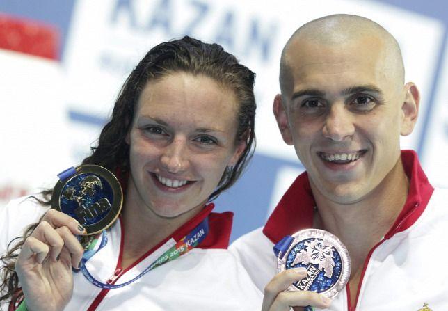 Hosszú Katinka, Cseh Laci úszók
