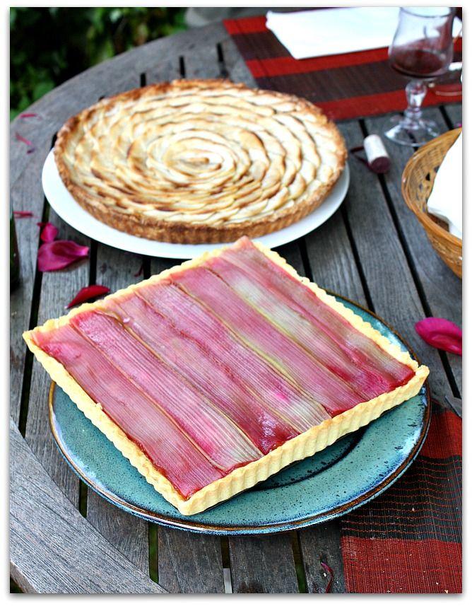 Un dimanche a la campagne: Fan de rhubarbe : la tarte design