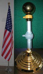 Full Hispanic 3x5' Flag Pole Kit- Ball with Bronze Stand..OM
