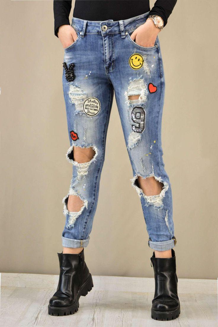 Γυναικείο denim patch ψαράδικο | Γυναίκα - Jeans & Denims -