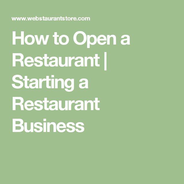 How to Open a Restaurant | Starting a Restaurant Business