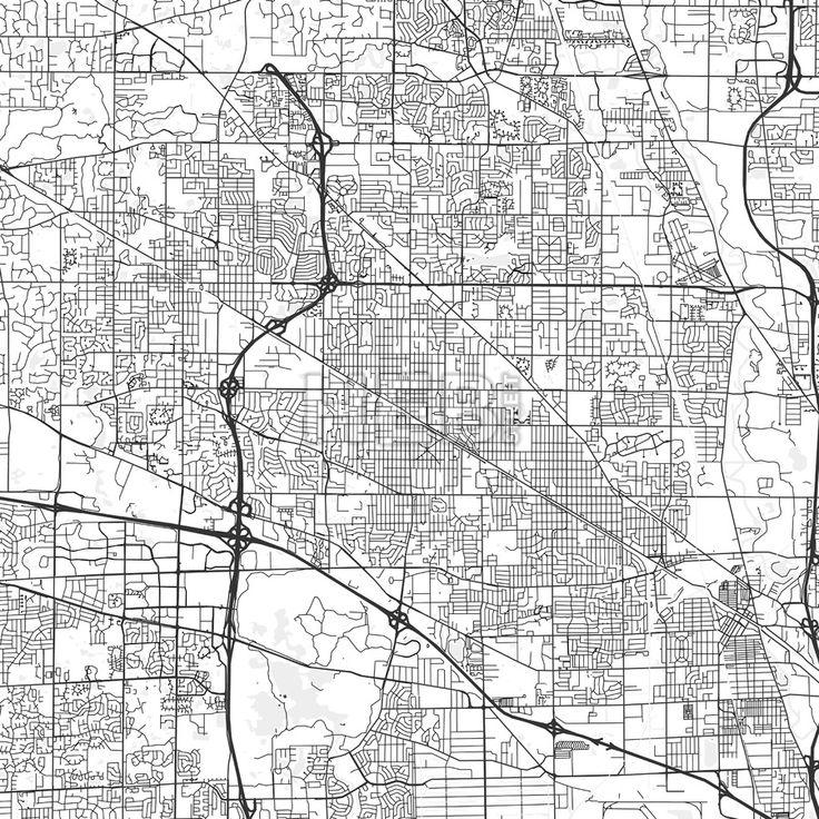 Arlington heights illinois area map light