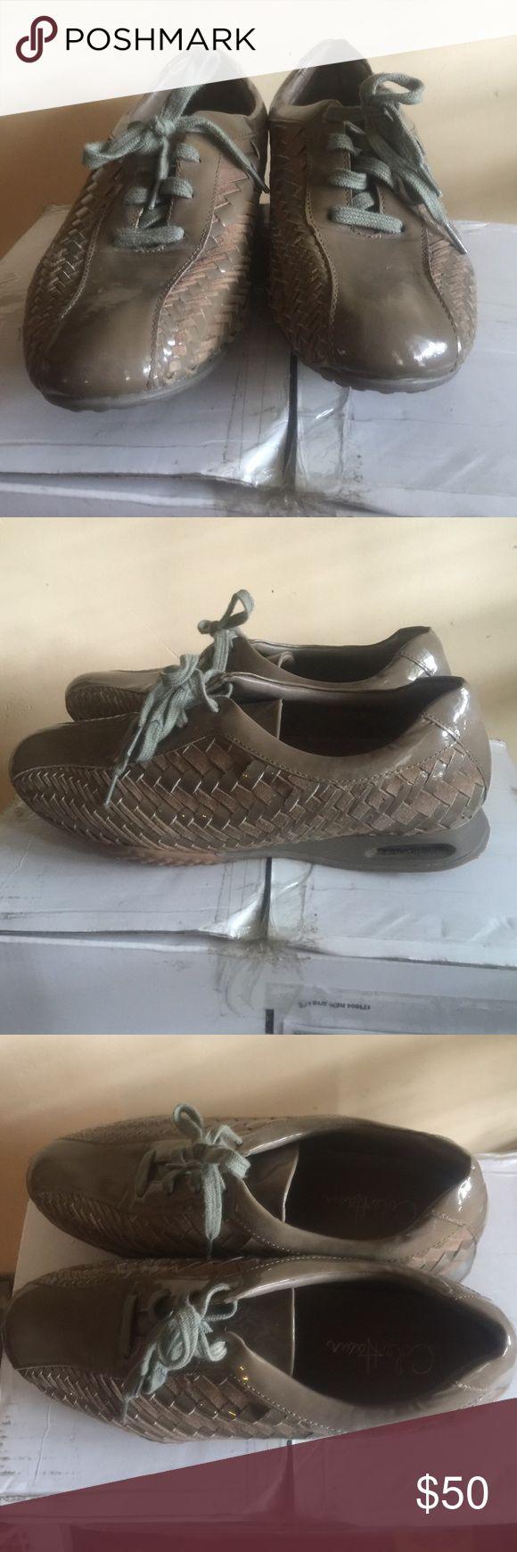 Women's Cole Haan sneakers Woven tan Cole Haan Air Bria kinda squeaky when walking Cole Haan Shoes Sneakers