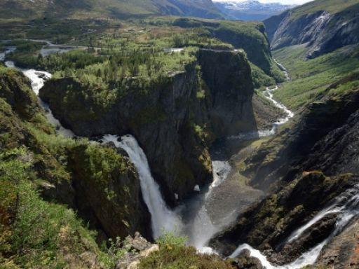 Der Vøringsfossen auf der Norwegischen Landschaftsroute Hardangervidda. Foto: Jarle Wæhler