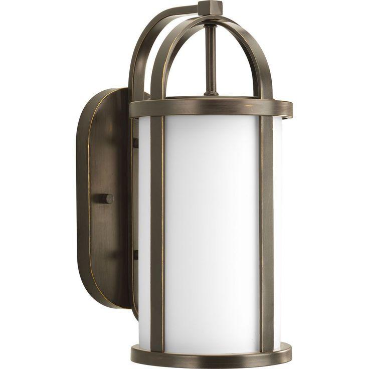 Progress Lighting P5719-20 Greetings Bronze /Stainless Steel One-light Wall Lantern