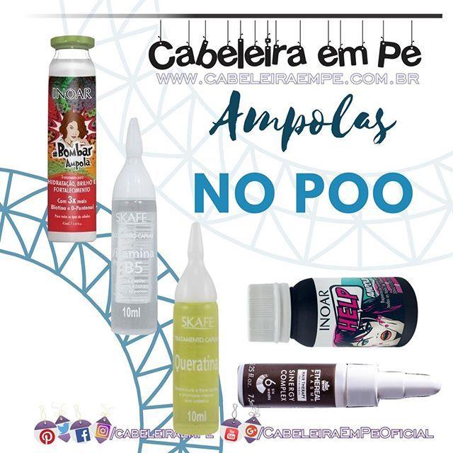 No Poo 10 Ampolas Capilares Liberadas Vitamina Para Cabelo