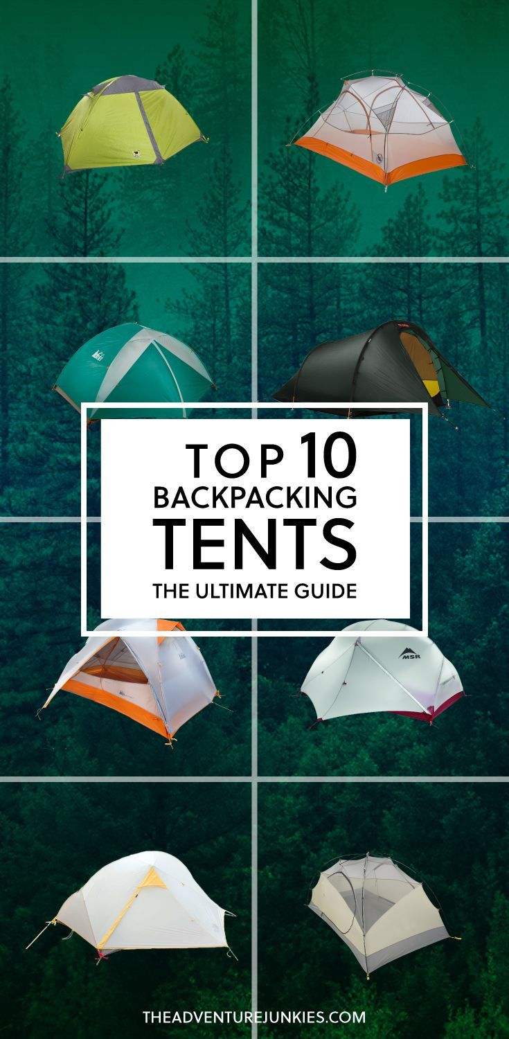 Top 10 best backpacking tents best camping gear hiking gear for beginners backpacking