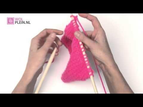 ▶ 8. Kantsteek breien - Online breicursus van Wolplein nl - YouTube