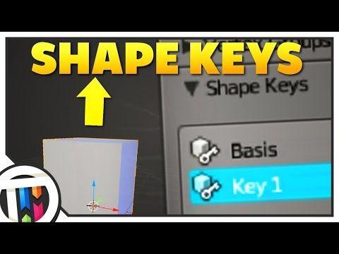 blender how to add shape keys