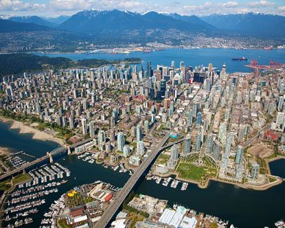 Granville Bridge to Downtown Vancouver