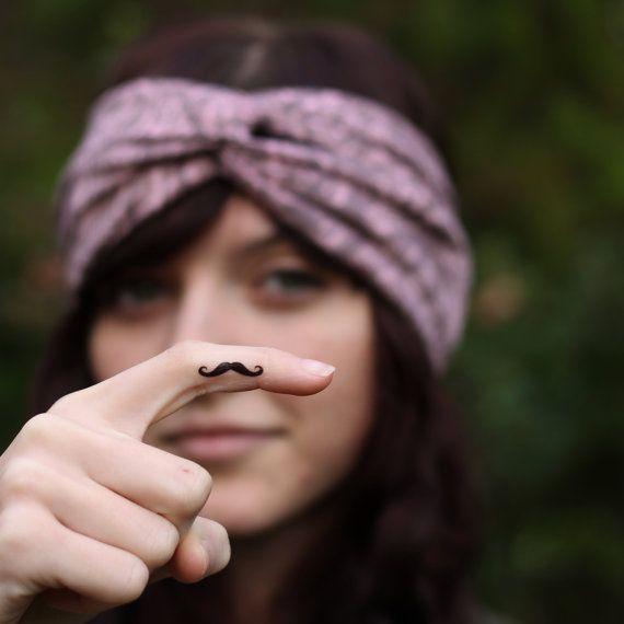 Mini Finger Mustache Temporary Tattoos (Set of 3)