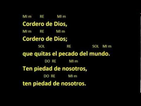 CANTOS PARA MISA - SANTO 6 - LETRA Y ACORDES - YouTube