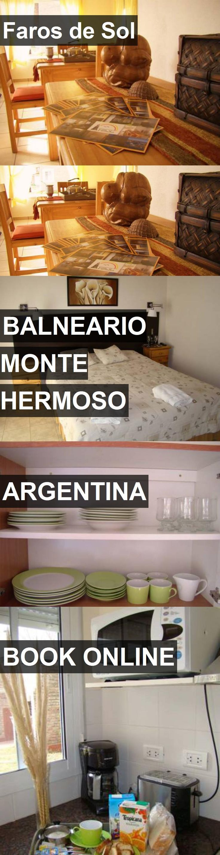 Hotel Faros de Sol in Balneario Monte Hermoso, Argentina. For more information, photos, reviews and best prices please follow the link. #Argentina #BalnearioMonteHermoso #travel #vacation #hotel