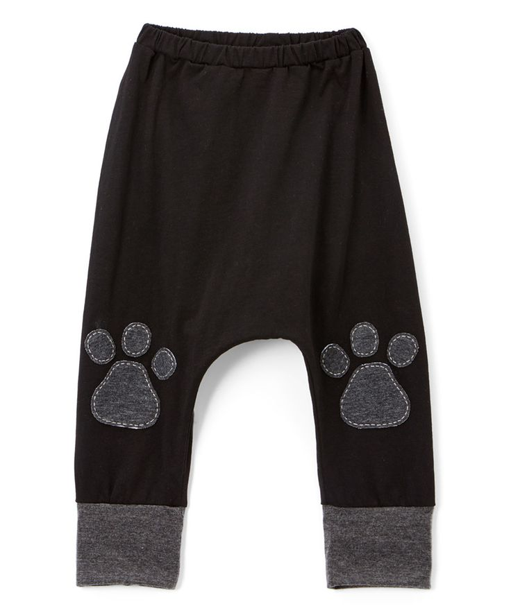 This Victoria Kids Black & Charcoal Paw Print Harem Pants - Infant, Toddler & Kids by Victoria Kids is perfect! #zulilyfinds