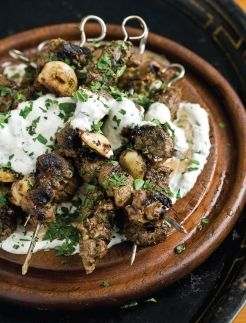 Greek-style Lamb Kebabs - with feta spread - looks to-die for!
