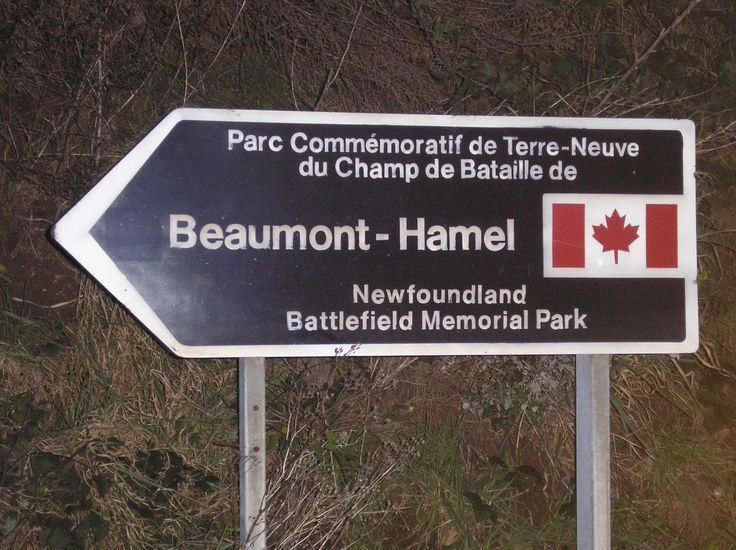 Parc Commémoratif de Terre-Neuve du Champ de bataille Beaumont-Hamel