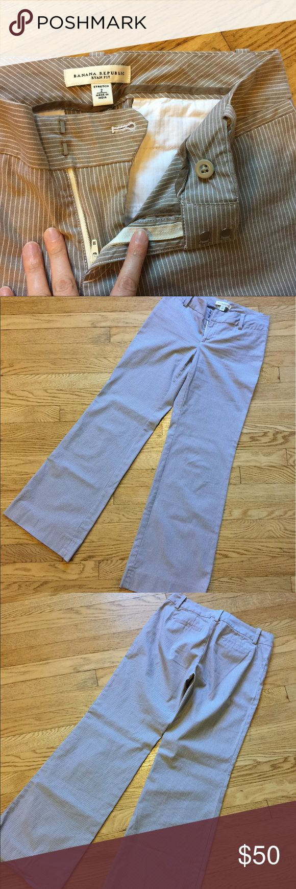 """NWOT Banana Republic """"Ryan Fit"""" Stretch Trouser Color is true to first picture. Very stylish and in MINT condition. Price negotiable 💗 Banana Republic Pants Trousers"""