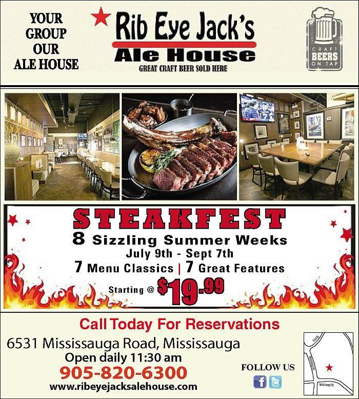 Steakfest runs until September 7th at Rib Eye Jack's in #Streetsville